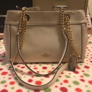 Coach white Leather purse with Tag